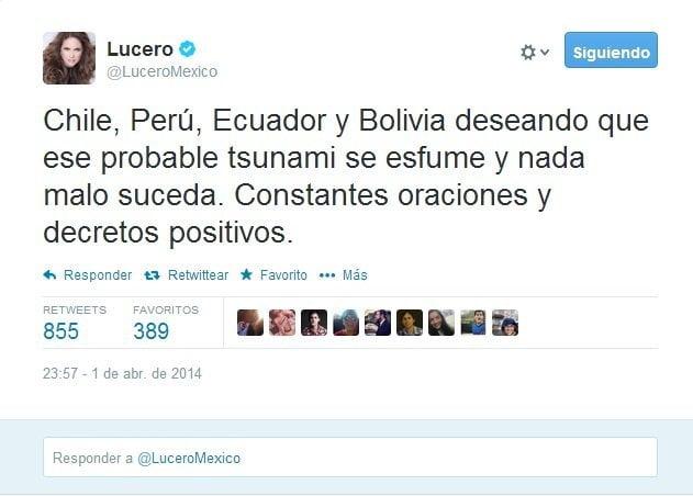 Cantante Lucero habló de posible tsunami en Bolivia y se burlan de ella