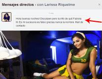 "Larissa Riquelme aclara: ""Nunca nombre mi sucesora a Fabiola Martínez"""