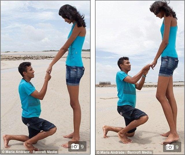 Foto Daily Mail / Adolescente más alta del mundo quiere casarse con su novio