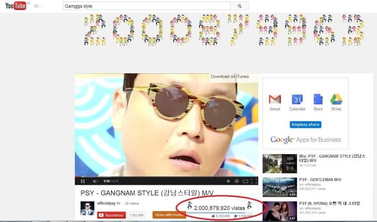 Record: 'Gangnam Style' de PSY suma 2,000 millones de vistas en Youtube