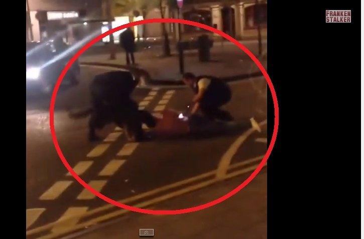 [VIDEO Youtube] Brutal: Perro policía muerde el cuello a detenido durante revuelta