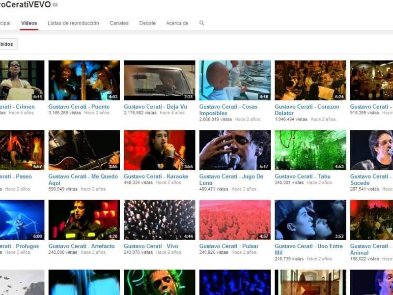[VIDEO] Gustavo Cerati: Aquí sus canciones más populares en Youtube