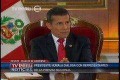"""Humala: Hay un tema real en la inseguridad ciudadana pero también una percepción"""""""