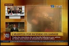 Tres integrantes de una familia mueren asfixiados tras incendio en Lima