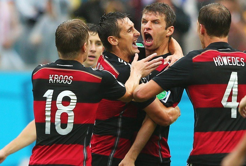 Müller marcó el gol del triunfo merecido de Alemania sobre Estados Unidos.