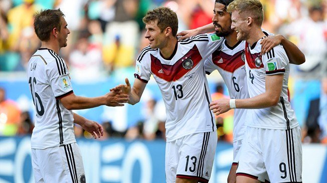 Tomas Müller anotó el primer hat-trick del Mundial Brasil 2014.