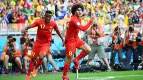 Fellaini marcó el camino del triunfo belga  tras anotar el empate transitorio.