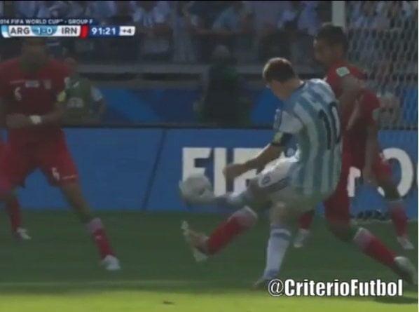 [VIDEO cortesía ATV quien tiene derechos en Perú] Reviva el gol de Lionel Messi de último minuto ante Irán