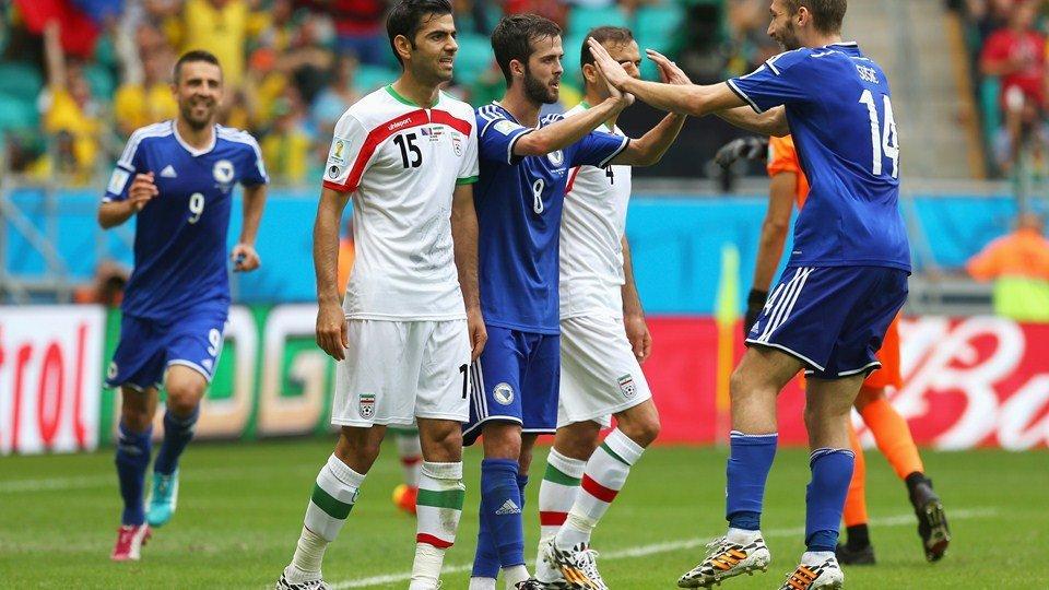 Bosnia-Herzegovina logró ante Irán su primer triunfo en la historia de los mundiales.