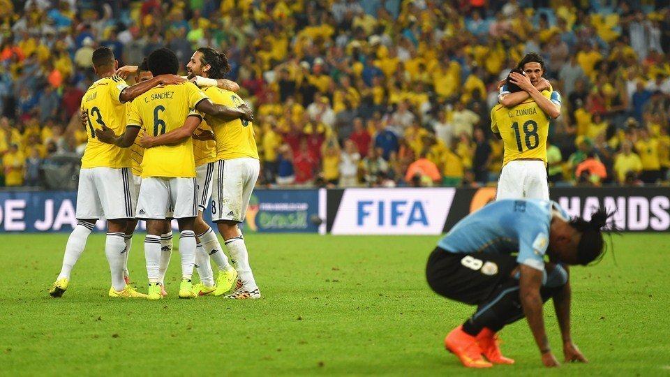 Colombia  por primera vez accedió a cuartos de final de un mundial donde chocará con el anfitrión Brasil.