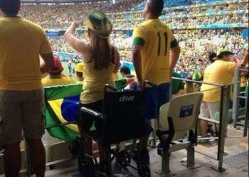 Brasil 2014: FIFA investigará a 'discapacitados' que veían los partidos de pie