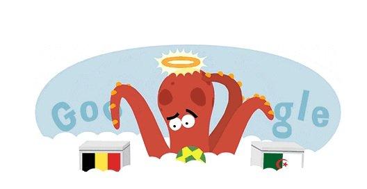 Google revivió al 'Pulpo Paul' en un atractivo Doodle