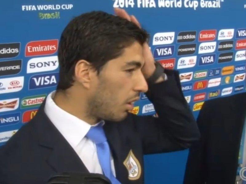 """FOTO Y VIDEO CNN / Suárez tras morder a Chiellini: """"Son jugadas casuales que pasan"""""""