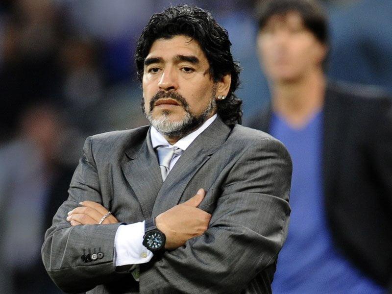 """Foto diario Panorama / Diego Maradona denuncia """"corrupción y sobornos"""" en la FIFA"""