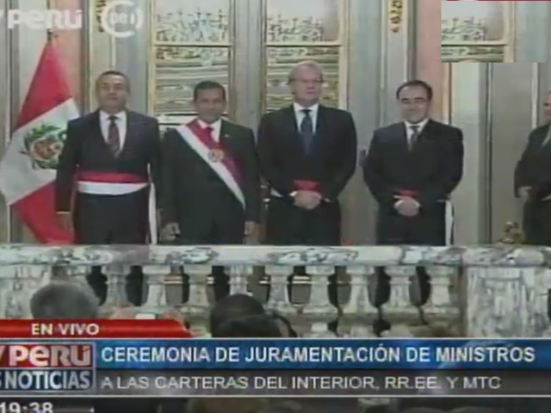 Ollanta Humala juramentó a ministros del Interior, MTC y Relaciones Exteriores