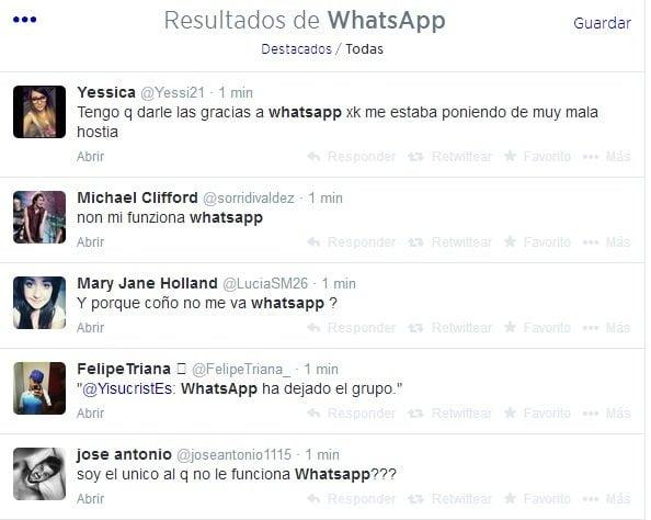 Se cae WhatsApp hoy domingo y miles de usuarios van a Twitter
