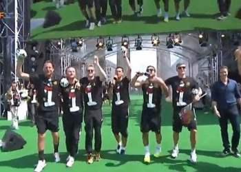 """[VIDEO] Selección alemana se burla de los Argentinos: """"así caminan los gauchos"""""""