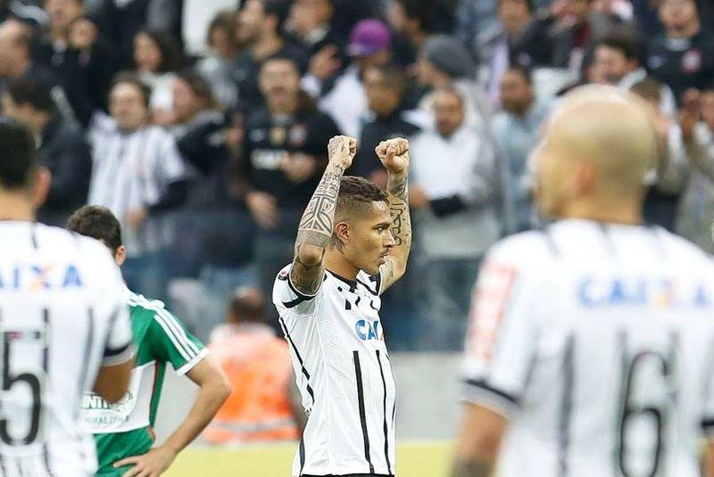 Guerrero sumó su cuarto gol en el Brasileirao con el Corinthians.