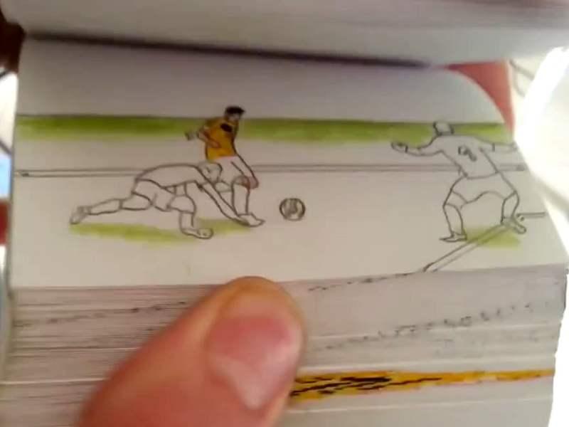 """[VIDEO] Mira goles de James Rodríguez  y otros cracks en un animado """"flipbook"""""""