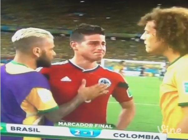 (Video: TuTeve.tv / ATV)  James Rodríguez llora tras derrota de Colombia ante Brasil