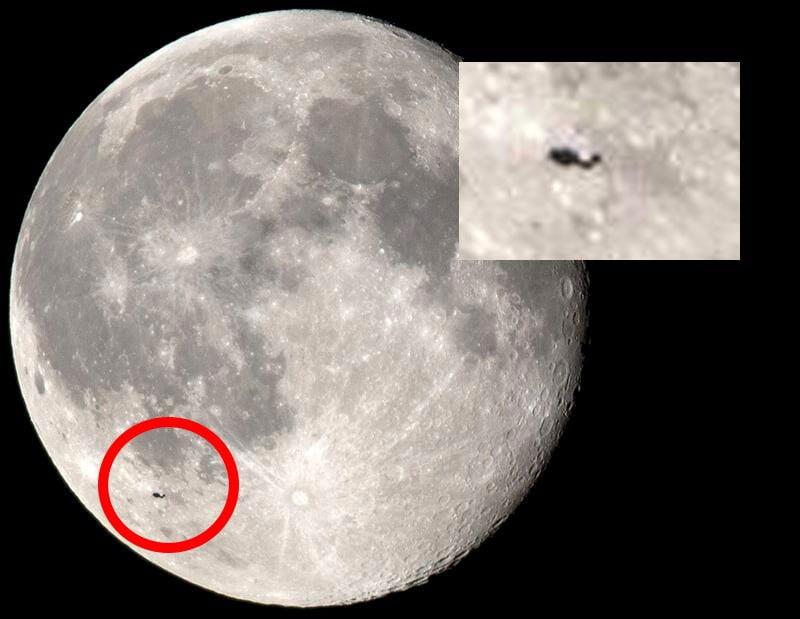 [FOTO] Misterioso objeto flota cerca de la Luna ¿qué es?