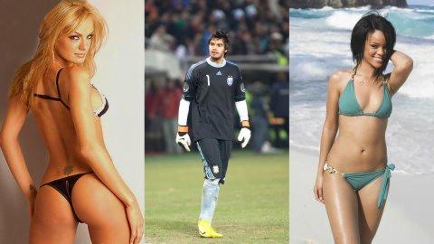 """Foto Infobae / Esposa de arquero argentino: """"Se lo presto a Rihanna si somos campeones"""""""