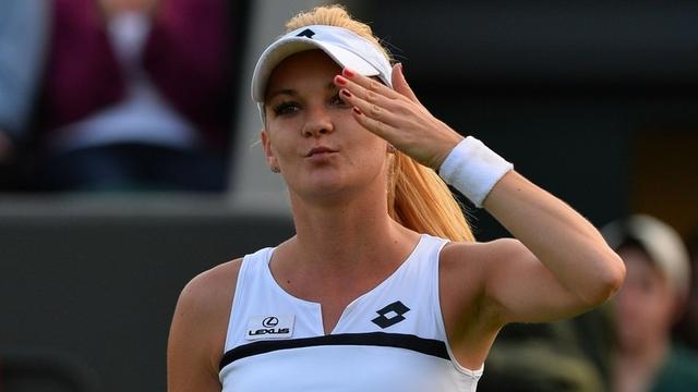 La tenista polaca Agnieszka Radwanska le dijo adiós a Wimbledon 2014.