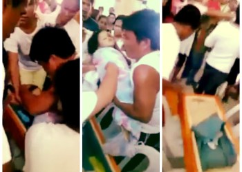 [VIDEO] Impactante: Niña declarada muerta 'resucita' en su funeral