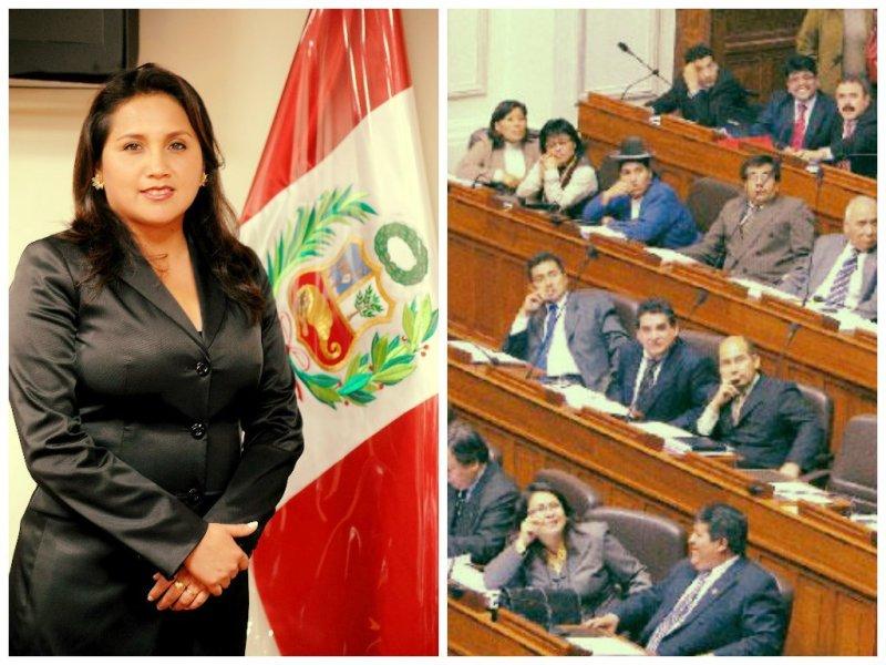 Gana Perú ratifica a Solórzano como candidata a la presidencia del Congreso