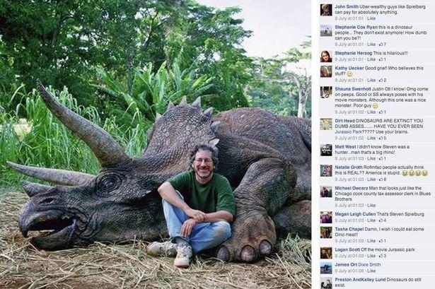 víctima de trolls idiotas por supuesto maltrato a Triceratops