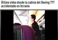 [VIDEO] Inédito de la cabina del avión de Malaysia Airlines antes de ataque