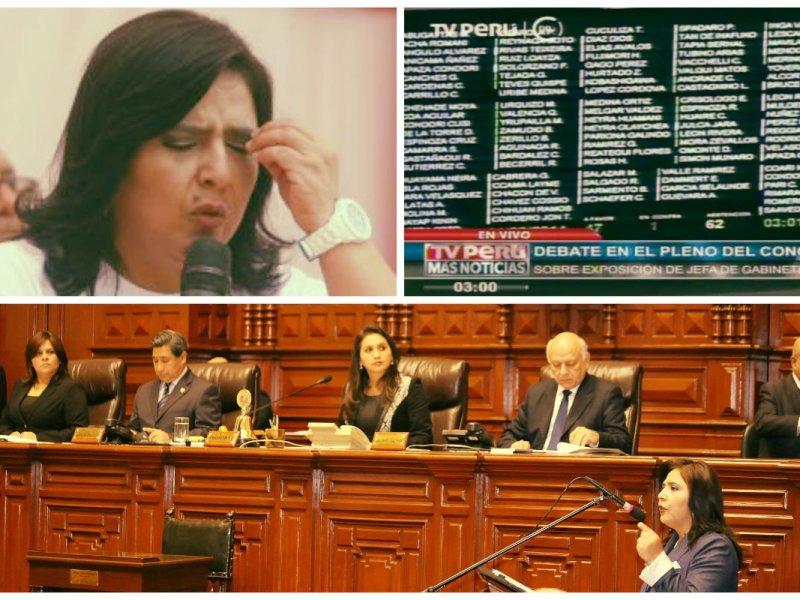Si Ana Jara y su gabinete no tienen hoy voto de confianza sí habría cambios