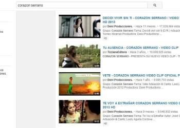 [VIDEOS] Corazón Serrano: Sus 10 canciones más populares en Youtube