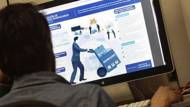 A partir del 30 de agosto, el drawback vía web  comenzará a solicitarse en todas las Adunas peruanas.