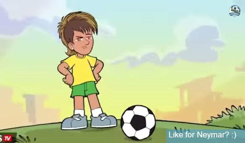 [VIDEO] Y ahora Neymar se convierte en dibujo animado