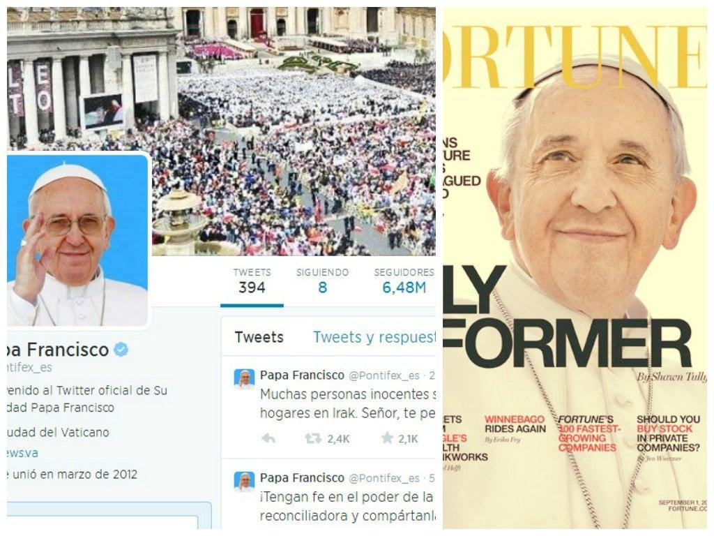 Papa Francisco tiene 15 millones de seguidores en Twitter y es tapa de revista