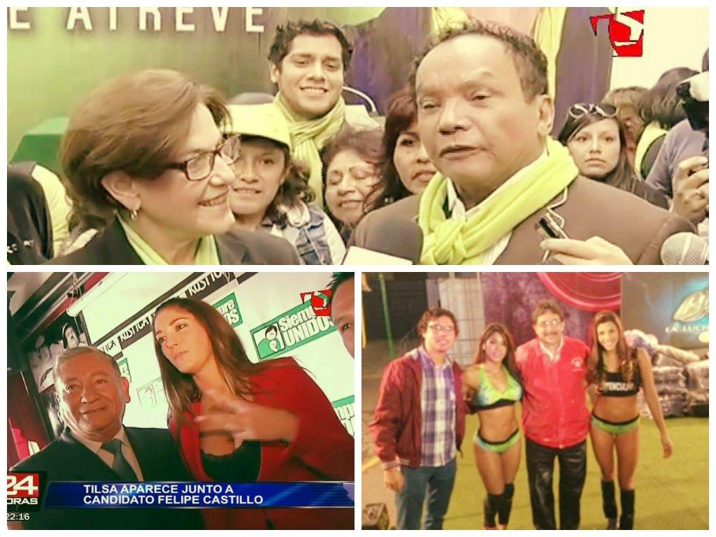 [VIDEOS Pantel] 'Chollywood' en campaña electoral con Susana Villarán, Castillo y Cornejo