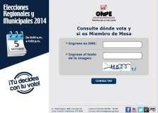 Elecciones 2014: Consulta donde votar y si eres miembro de mesa