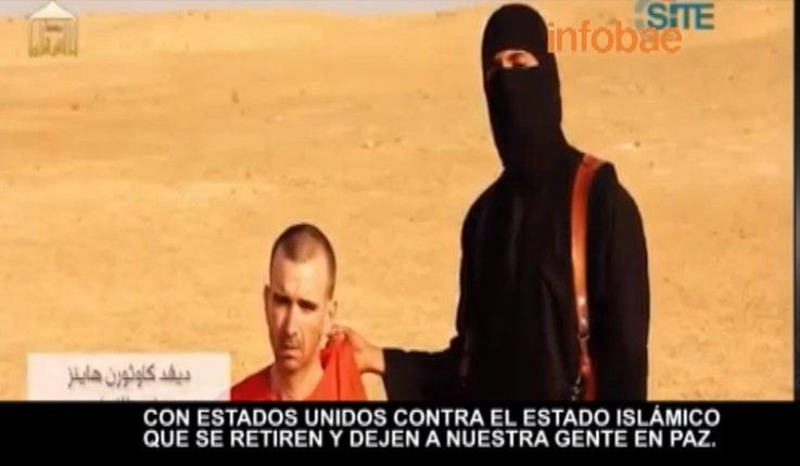 Radicales islámicos de ISIS muestran a ejecutivo que sería su tercera víctima