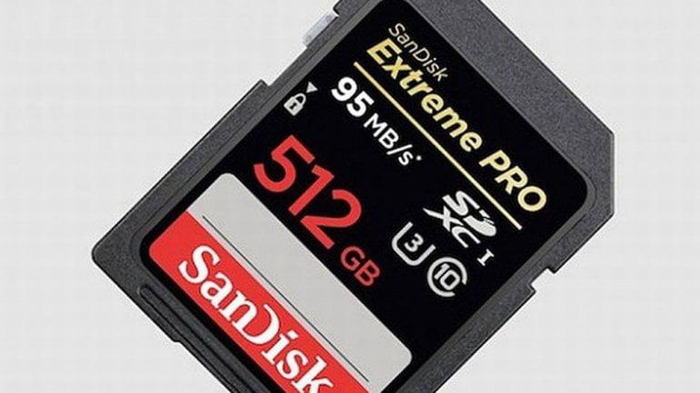 Increíble: Esta tarjeta SD puede almacenar 515 GB o medio terabyte