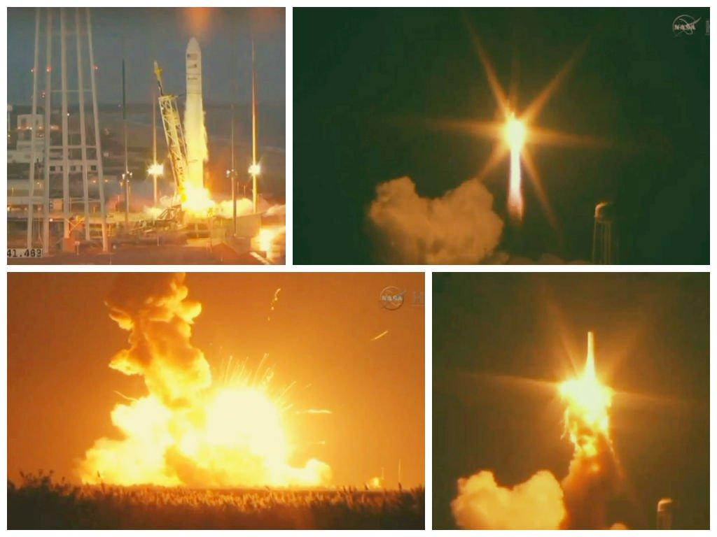 [VIDEO] Impactante: Explota cohete de la NASA durante lanzamiento