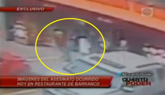 [VIDEO] impactante: Cámaras captan crimen de sicarios en Barranco