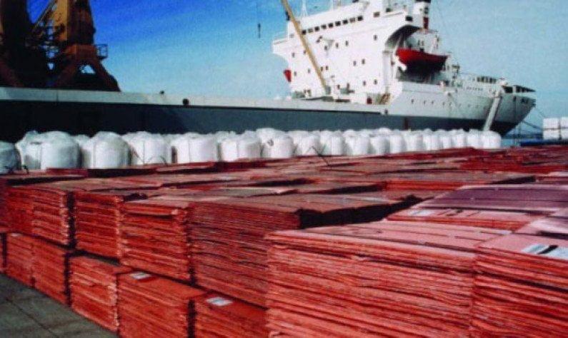 El cátodo de cobre refinado fue uno de los principales productos que motivó la contracción de los envíos a territorio italiano.
