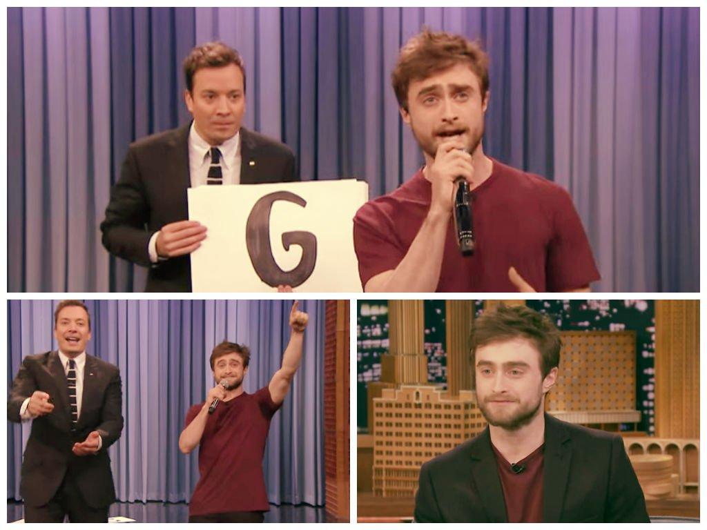 [VIDEO] Mira a 'Harry Potter' rapeando en el programa de Jimmy Fallon