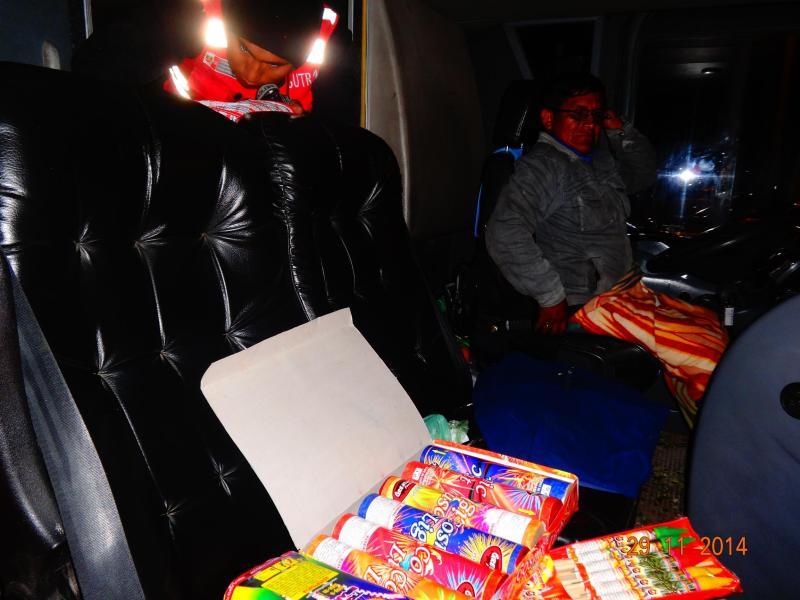 Tacna: Incautan pirotécnicos en cabina de conductor de un bus