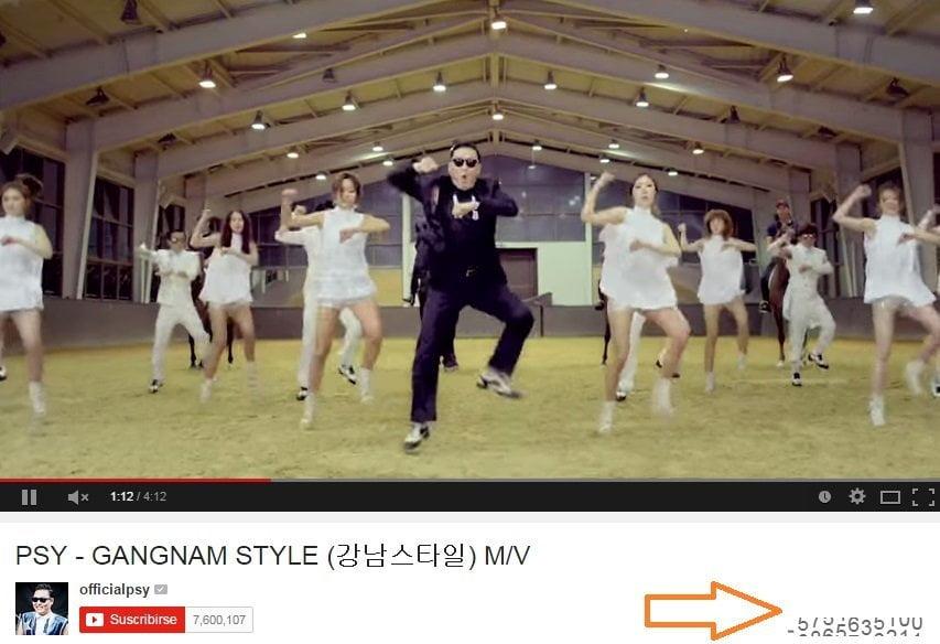 [VIDEO] YouTube: PSY y el Gangnam Style 'colapsa' contador de visitas