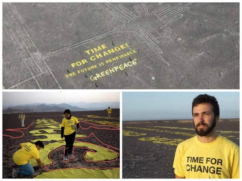 Fiscalía investiga daño de Greenpeace a las Líneas de Nazca