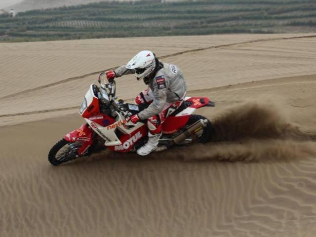 El motociclista Felipe Ríos es uno de los mejores peruano en el Dakar 2015.