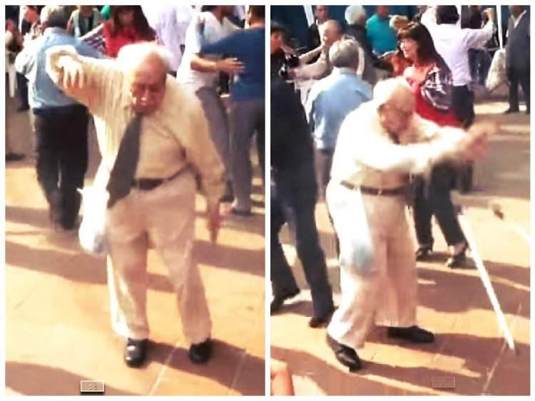 YouTube: Este caballero sorprende con su vitalidad para el baile [VIDEO]