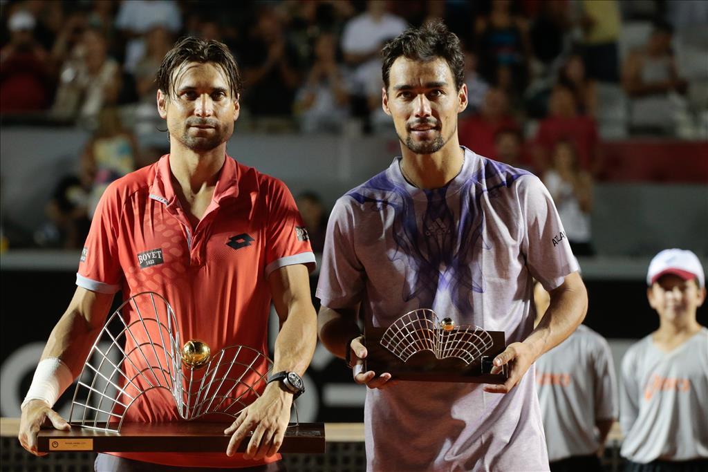 Ferrer obtuvo 500 puntos en Río de Janeiro tras derrotar en la final a Fognini,  pero igual se mantiene noveno dentro del ranking de la ATP.